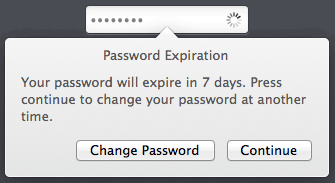 Mac Login Window Password Expiration Warning