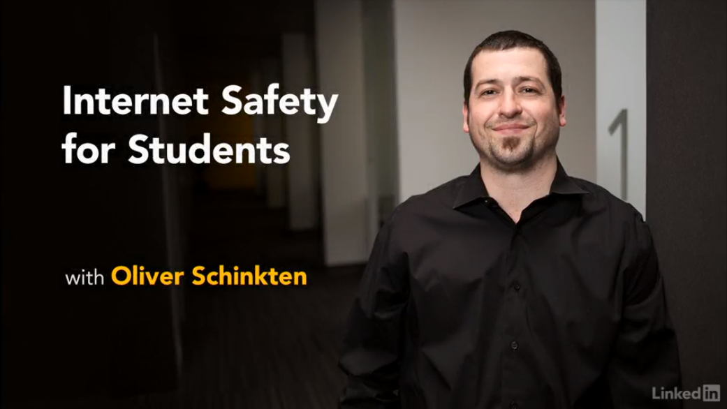 Opening slide to Internet Safety for Students Video