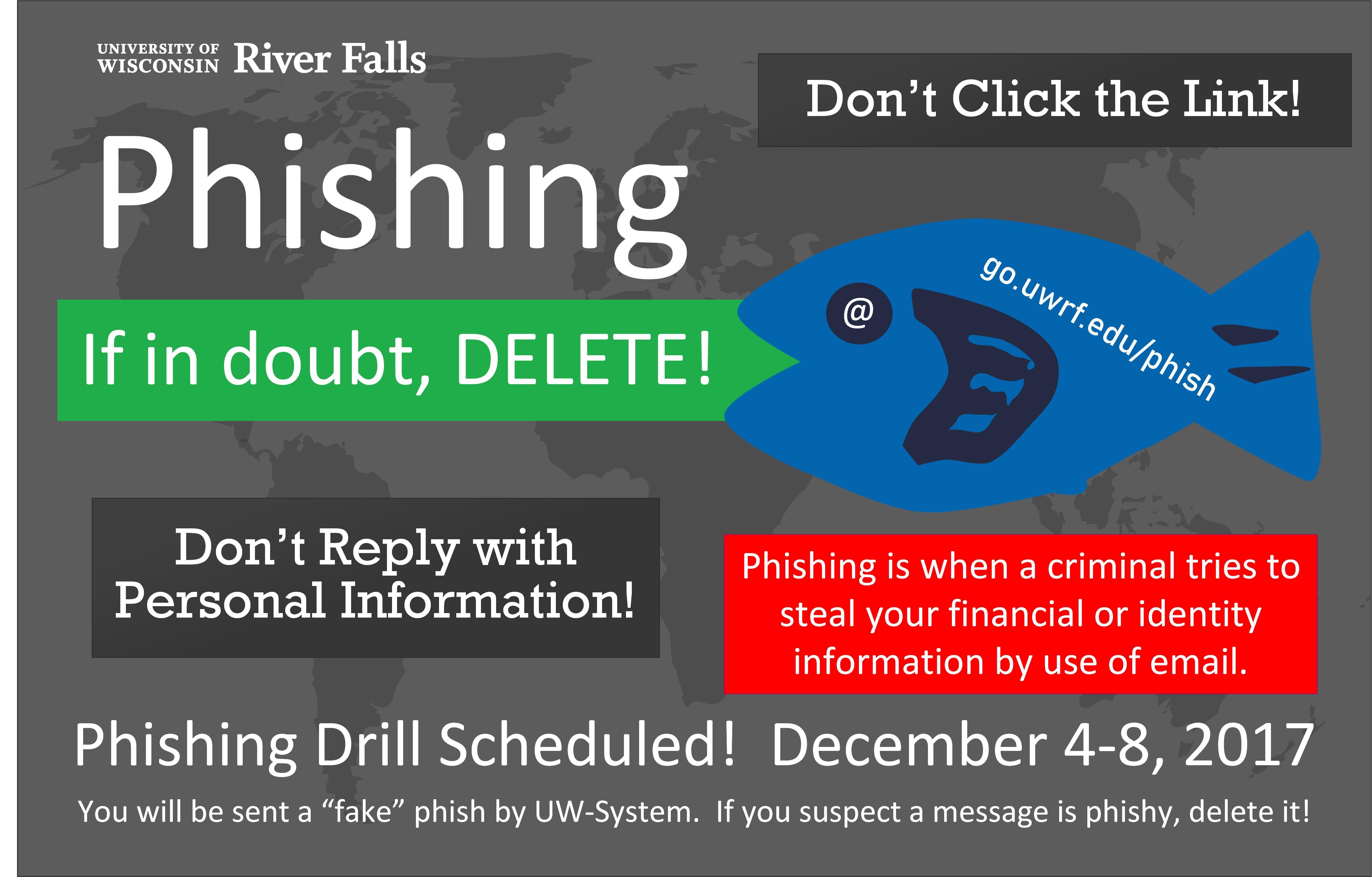 Phishing Drills Scheduled Dec 4-8, 2017